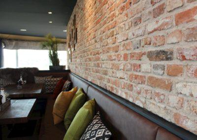 Ziegelwand Restaurant Osteria Büsum