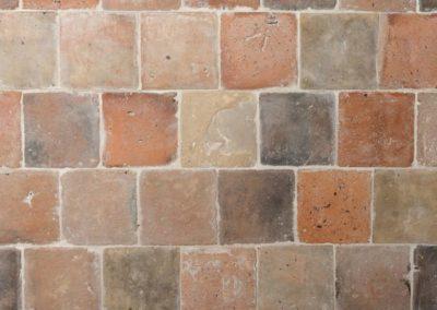 Terracotta historisch bunt 15,5 x 15,5 cm