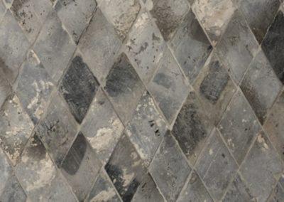 Ziegel geschnitten Kotto Diamant grau-blau